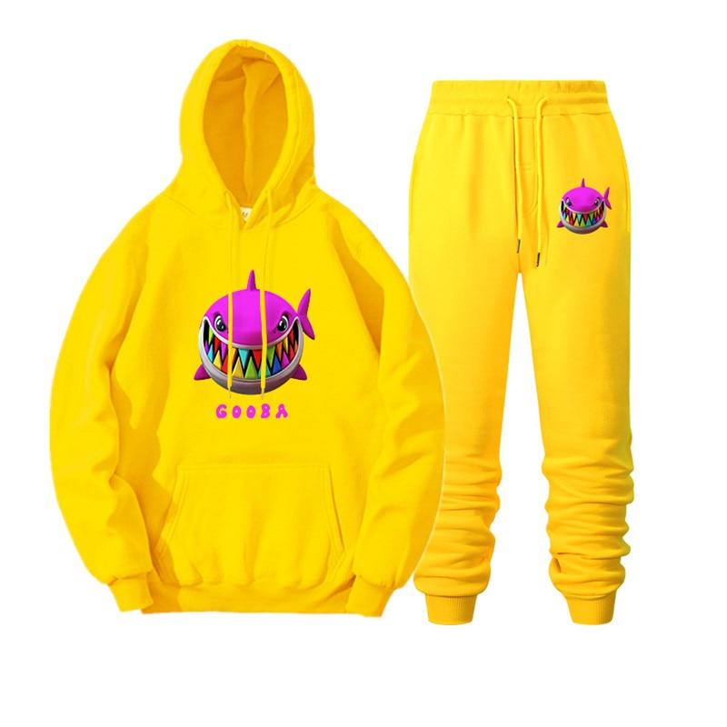 New rapper 6ix9ine gooba rainbow hoodie sweatshirt men's autumn and winter women's hoodie sports suit sports shirt + sports pant