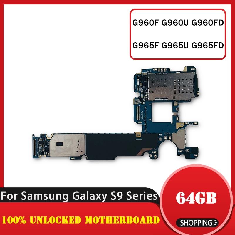 Placa base TDHHX, placa base lógica para Samsung Galaxy S9 G960F G960U G960FD G965F G965U G965FD, placa base con chips completos