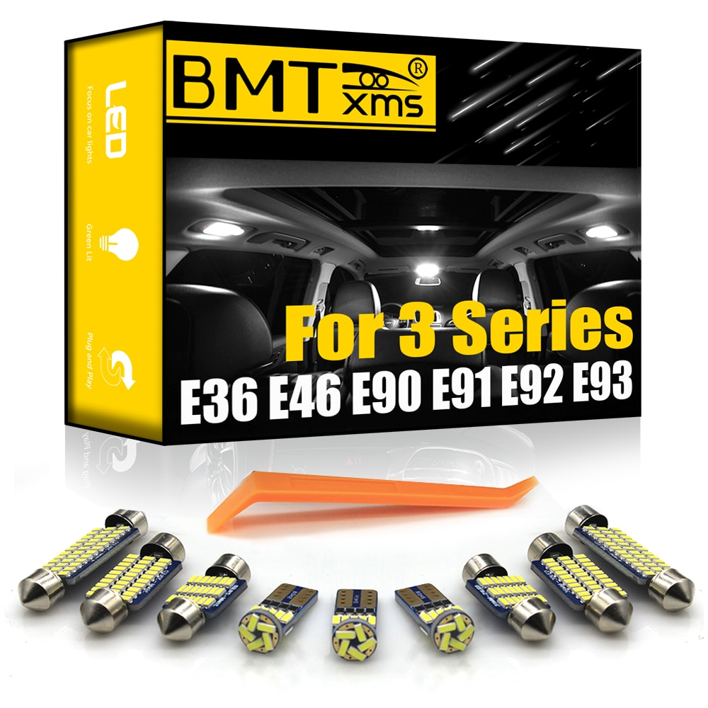 BMTxms для BMW 3 серии E36 E46 E90 E91 E92 E93 1990-2013 Автомобильные светодиодные внутренние карты купольные лампы для внутреннего освещения CAN-шины