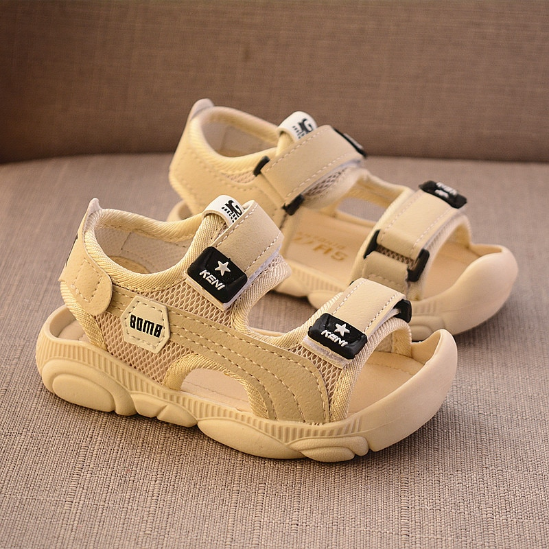 2020 Summer Children Shoes Boys Soft Soles Beach Shoes Male Baby Baotou Anti-kick Children's Sandals
