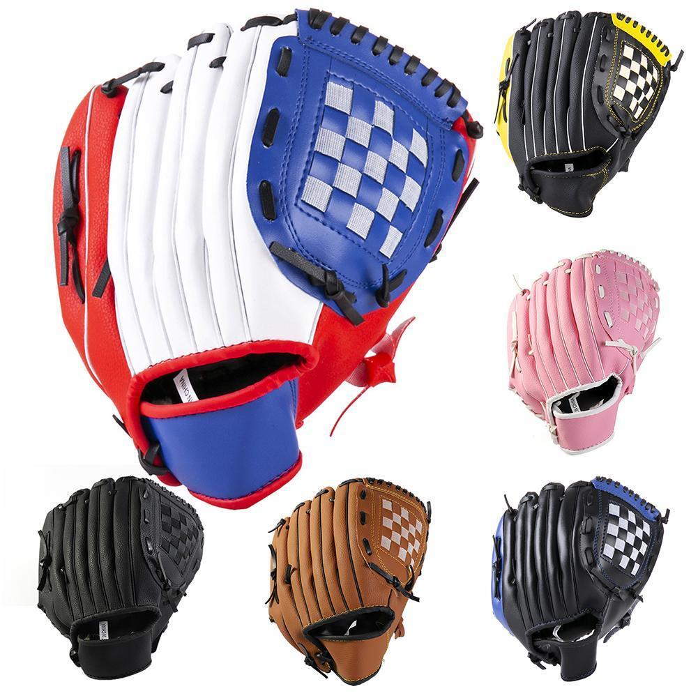 Спорт на открытом воздухе Молодежные взрослых левая рука тренировки Софтбол Бейсбольные перчатки