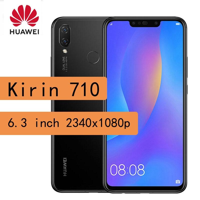 Smartphone Huawei P smart plus +/ huawei nova 3i 4GB RAM 128GB ROM Kirin 710 Mobile Phone Fingerprint 3340 mAh Cell phone