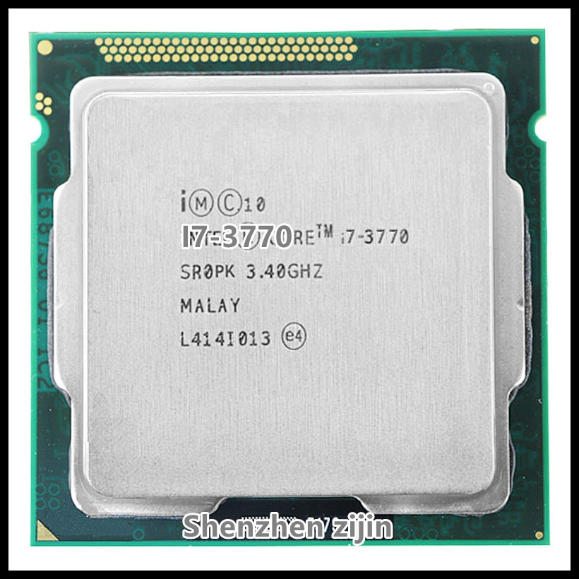 I7-3770 SROPK i7 3770 3.4 GHz رباعية النواة وحدة المعالجة المركزية المعالج 8M 77W LGA 1155