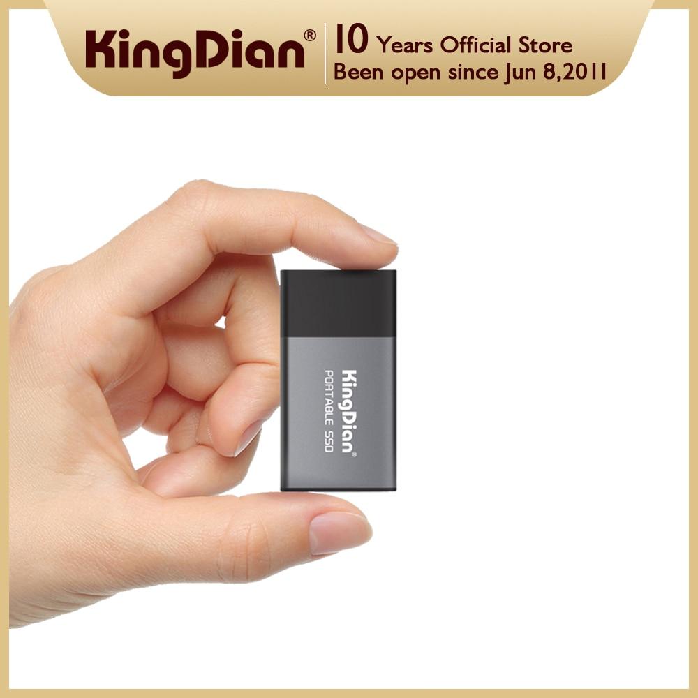 KingDian الخارجية SSD 120gb 250gb 500gb 1 تيرا بايت 2 تيرا بايت القرص الصلب USB 3.0 نوع C لأجهزة الكمبيوتر المحمول