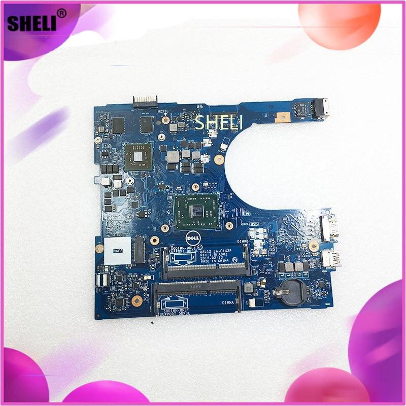 SHELI CN-09J3FV 9J3FV FOR DELL INSPIRON 5555 5455 laptop motherboard AAL12 LA-C142P REV:1.0(A00) A6-7310 mainboard notebook PC