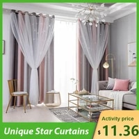 bedroom curtains unique star curtains stars blackout curtains for bedroom living girls colorful double layer star window curtain