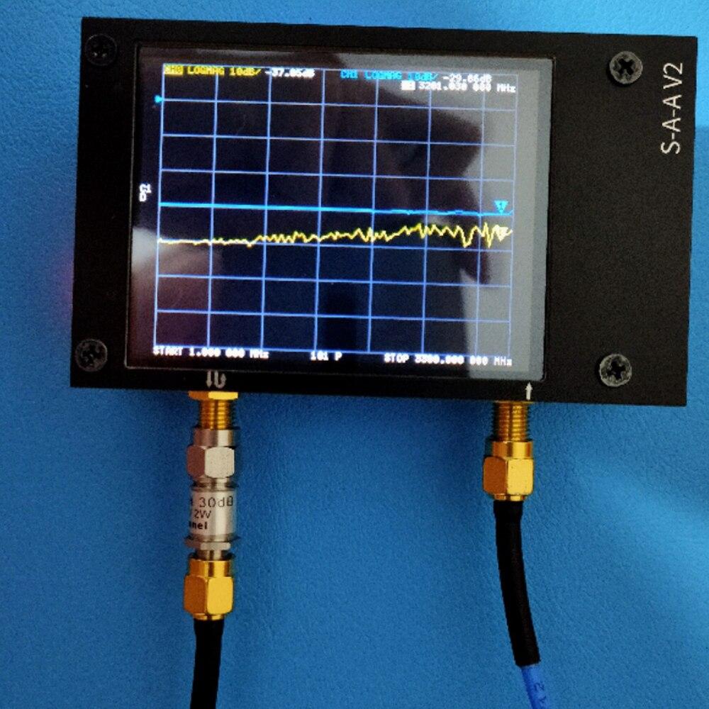 الجيل الثالث 3G ناقلات شبكة محلل S-A-A-2 NanoVNA V2 هوائي محلل موجات قصيرة HF VHF UHF نطاق التردد هو 50KHz ~ 3GHz ث/الإسكان