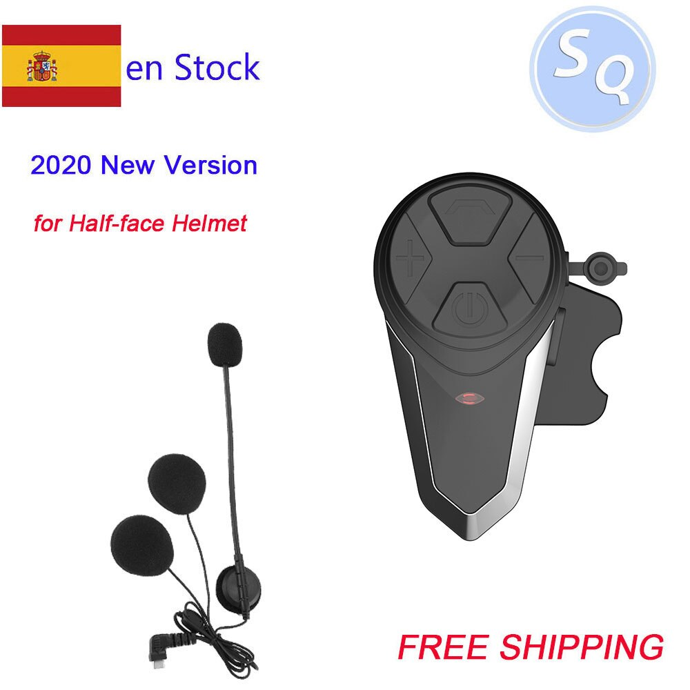 1PC Bluetooth Helmet Intercom BT-S3 IPX7 Waterproof BT 3.0 with FM ! BT-S3 1000m Headset Motorcycle bluetooth helmet Intercom