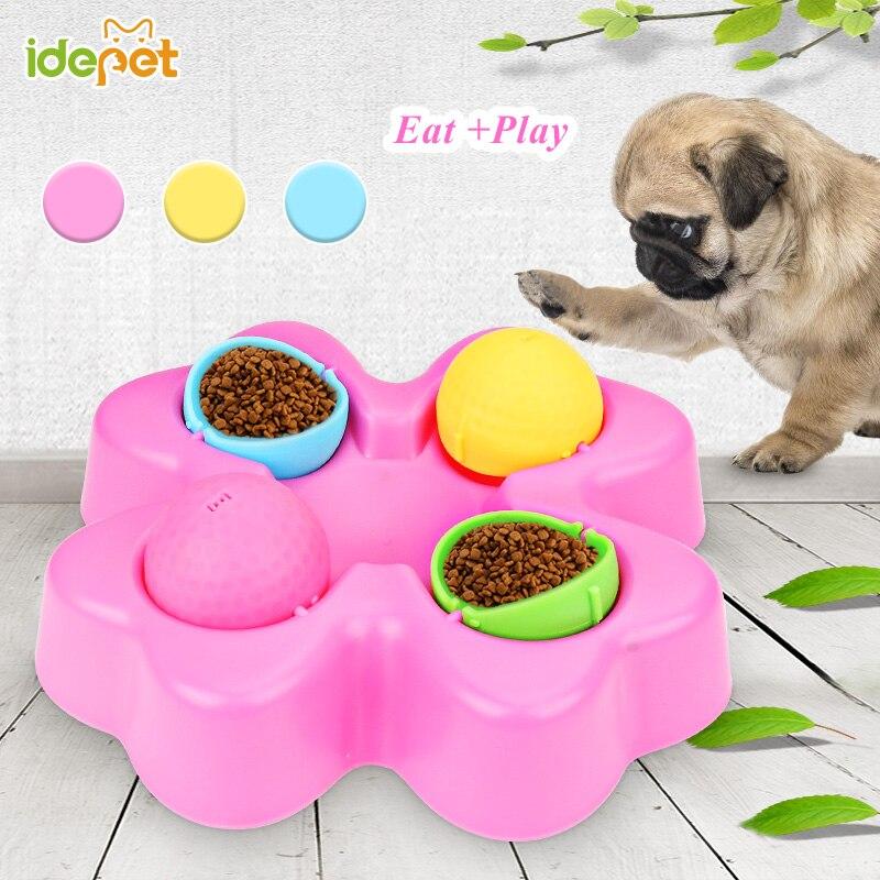 Juguetes de rompecabezas para perros y mascotas aumentan el CI juguetes educativos interactivos para gatos, tazón de alimentación lenta, juego de entrenamiento para perros pequeños y grandes