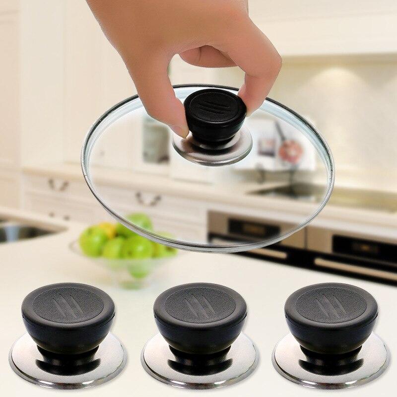 Manija de la tapa reemplazable manija Universal de la cubierta de la olla de cristal Anti-escaldado manija útil suministros de cocina de alta calidad