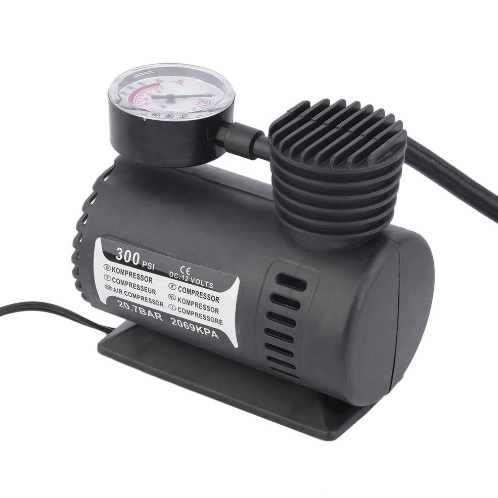 Mini 12V inflador juguetes de bombeo deportes bomba eléctrica portátil Mini compacto compresor bomba neumático Inflador de aire gran oferta