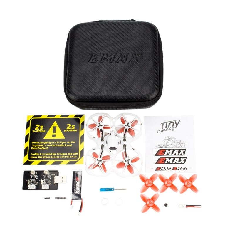 Emax Tinyhawk Ii 75 Mm 1-2S Whoop Fpv Racing Drone Bnf Frsky D8 Runcam Nano2 Cam 25 /100/200Mw Vtx 5A Blheli S Esc