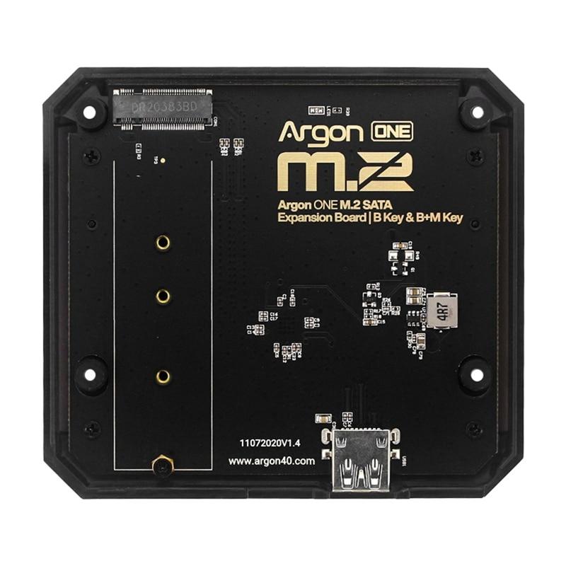 Плата расширения M.2 с USB 3,0 на M.2 SATA, SSD-адаптер для Raspberry Pi 4, Модель B, чехол для Argon ONE V2/M.2