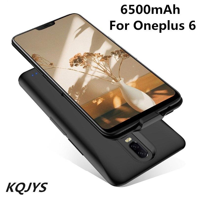 KQJYS 6500mAh para Oneplus 6 funda con cargador de batería externa fuente de alimentación portátil a prueba de golpes cubierta de carga para Oneplus 6