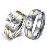 fashion wedding ring simple design couple ring for women and men jewelry anniversary lover gift