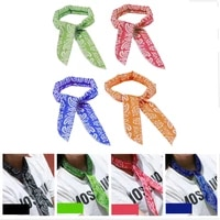 silk neck cooler scarf letter chain printed cold neck band cooling neck scarf fashion multifunction non toxic wrap tie headband