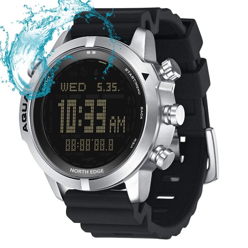 NORTH EDGE Multifunctional Diving Watch Outdoor Sports Waterproof Smart Waterproof Watch Compass Air Pressure Watch enlarge