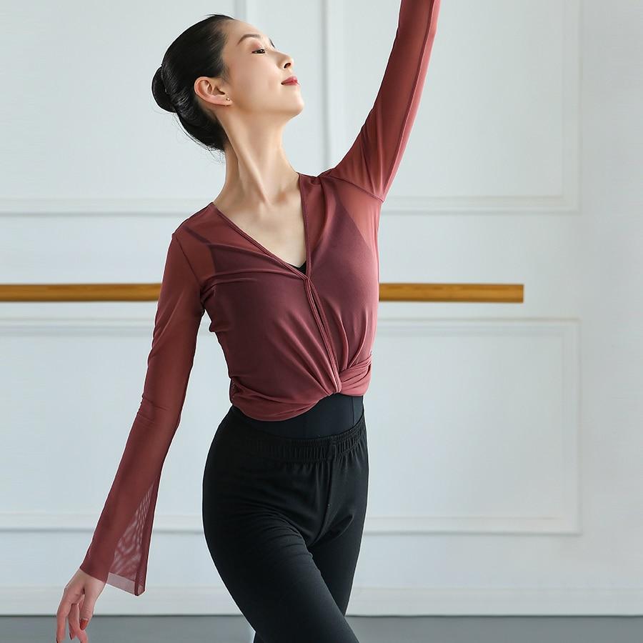 maglietta-da-balletto-donna-balletto-crop-top-wrap-top-cardigan-da-ballo-donna-sheer-top-flare-sleeve-ballerina-dancewear-camicetta-da-balletto