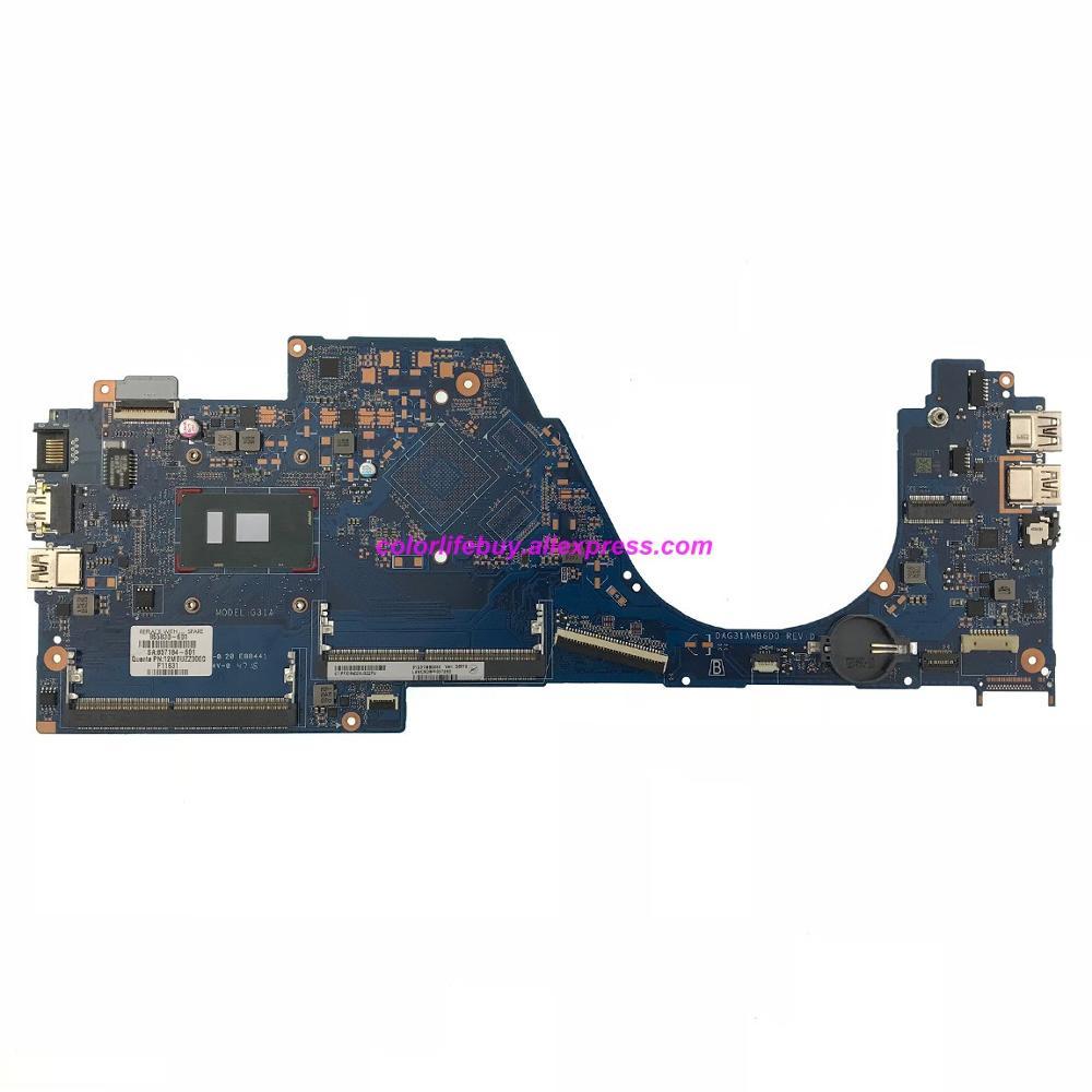 Genuino 855830-601 855830-001 DAG31AMB6D0 UMA w i5-6200U CPU placa base del ordenador portátil para HP 14-al series de portátil pc