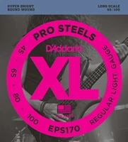 daddario eps170 prosteels bass guitar strings light 45 100 long scale