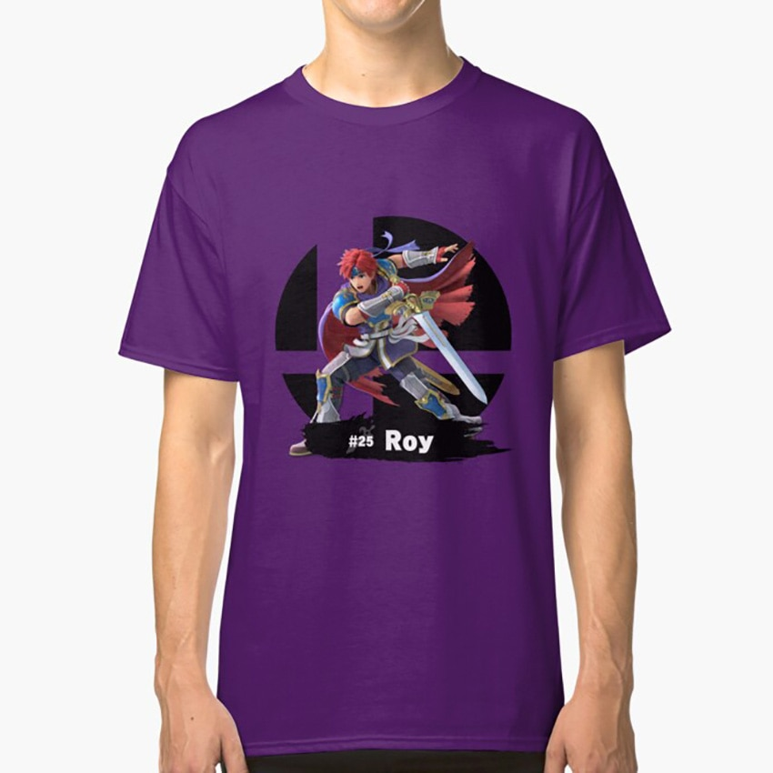Super Smash Bros final-25 Roy T camisa Smash Bros final Roy emblema de fuego carácter luchador pelota de Smash todos