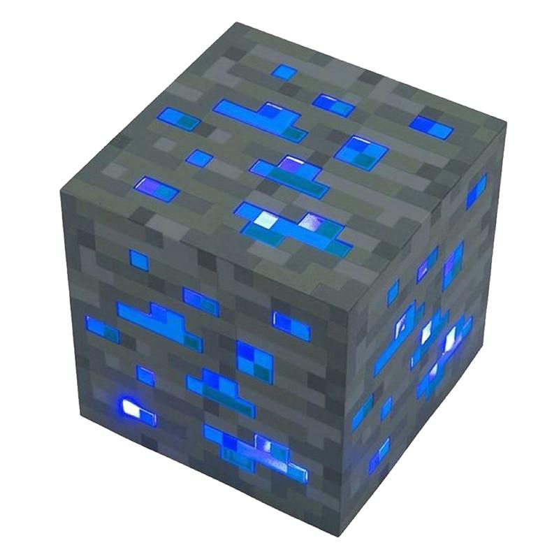 Promotion! Diamond Ore Light Up Led Night Light Cosplay toy gift Blue