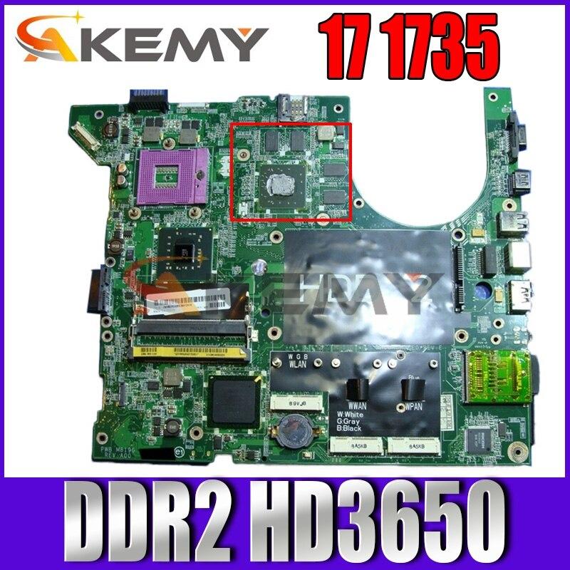 Akemy ل ديل استوديو 17 1735 اللوحة المحمول CN-0NU324 0NU324 الرئيسي مجلس 965PM DDR2 HD3650 شحن وحدة المعالجة المركزية