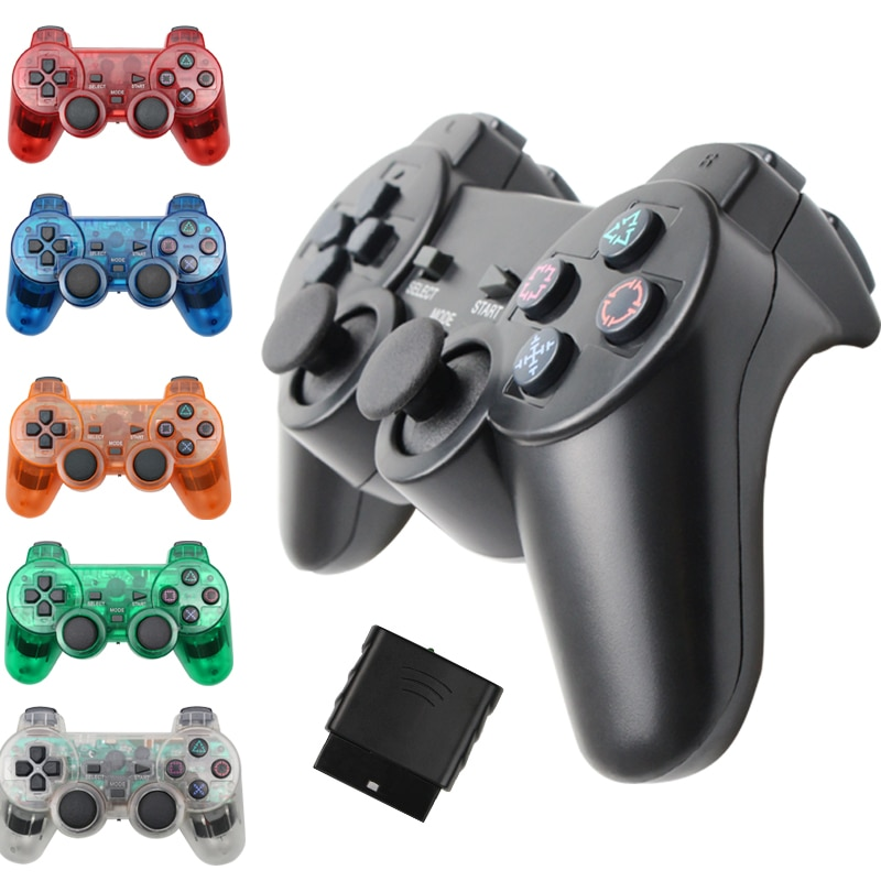 Wireless Gamepad for Sony PS2 Controller for Playstation 2 Console Joystick Double Vibration Shock J