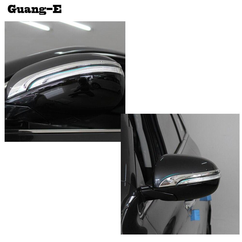 Coche cromo ABS trasera de Vista cubierta de espejo retrovisor lateral embellecedor de marco tipo tira lámpara capucha para Kia Sorento L 2015 de 2016 a 2017