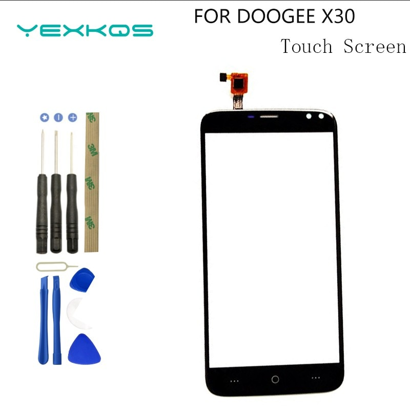 5.5'' Mobile Phone Front Touch Glass For Doogee X30 Touch Screen Glass Digitizer Panel Lens Sensor T