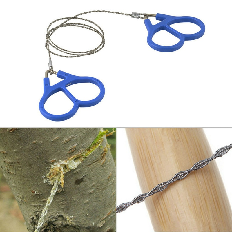 55cm Emergency Survival Gear Stainless Steel Wire Saw Hand Chain Saw Safety Survival Fretsaw ChainSaw Emergency