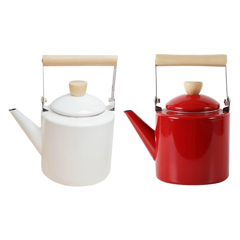 أباريق شاي على الطريقة اليابانية 2 لتر, غلاية مطلية بالمينا هالوجين معظم أواني الشاي الكونفغو