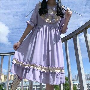 Japanese sweet lolita Dress Sweet Girl Cute Midi Girl's Dress 2020 Summer New Style gothic lolita dress  victorian dress