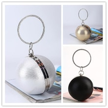 Ball Dinner Bag New simple personality round ball evening bag PU party bag makeup clutch fashion cha