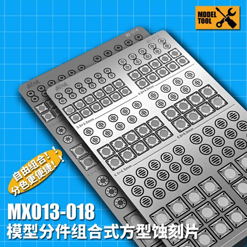 1Pcs DIY Gundam Military Modell Werkzeug Edelstahl Metall Ätzen Platte Detail Änderung Teile