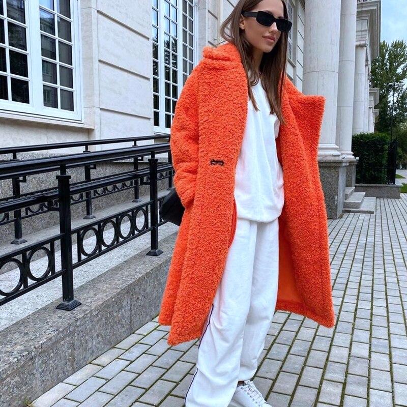Плюшевый мишка пальто средней длины 2020 Новая зима, зернистая овечья стрижка шерсть, сделанная шерсть, шуба