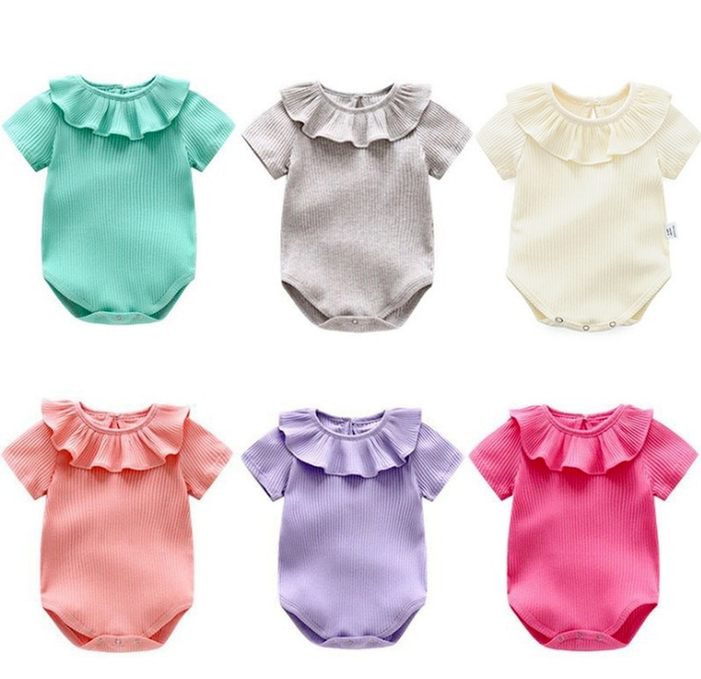 Детские комбинезоны из хлопка для маленьких мальчиков и девочек, футболка с короткими рукавами русский алфавит, одноцветная одежда костюм ...