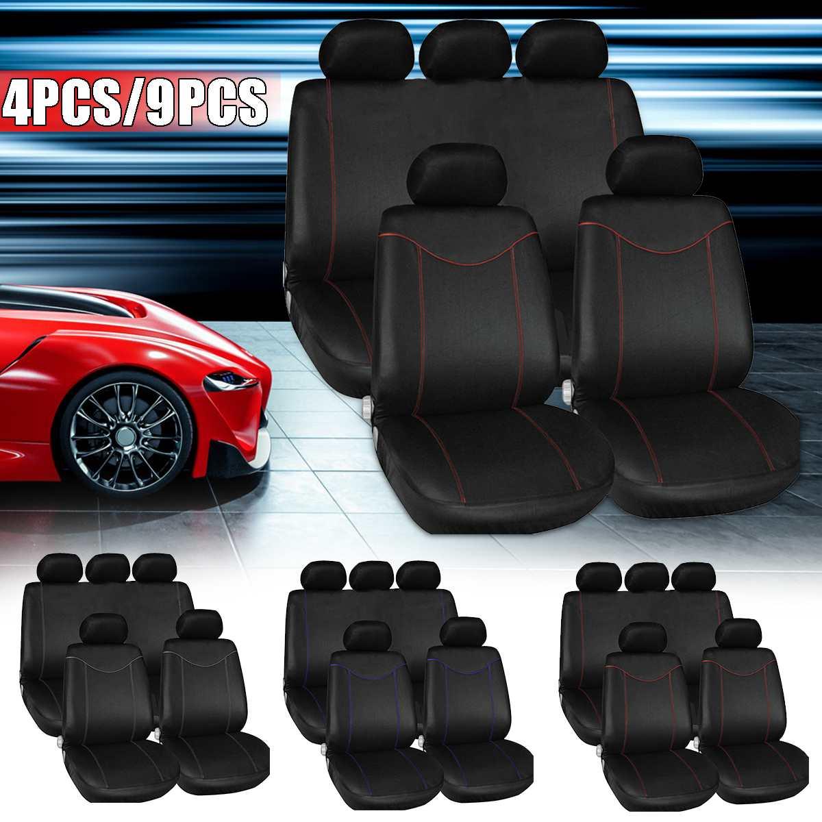 Tampas de assento do carro universal conjunto auto completo 2/5 seaters protetor almofada frente capa traseira interior acessórios do veículo tampas assento