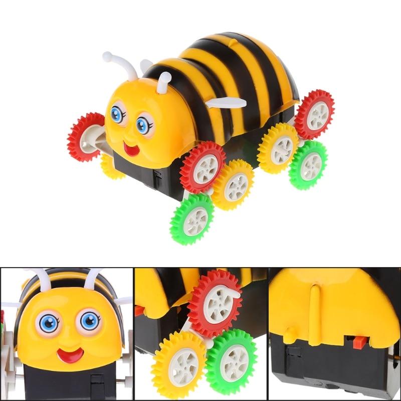 Increíble dibujo animado eléctrico de 12 ruedas de abeja de 360 grados de coche de juguete mejor K92D