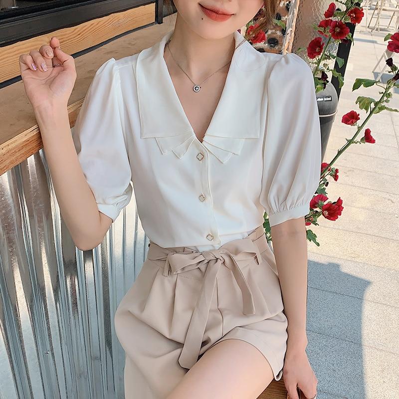 2PCS sets women shirts + shorts summer 6274#