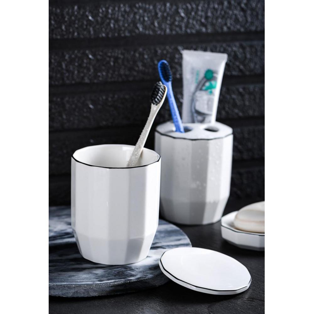 6pcs/Set Ceramic Bathroom Accessory Set Washing Tools Bottle Mouthwash Cup Soap Dispenser Toothbrush Holder Household Articles enlarge