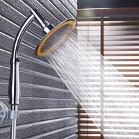 shower head high pressure water saving rainfal handheld shower big 6 inch bathroom rain shower spa fixtures douche accessories