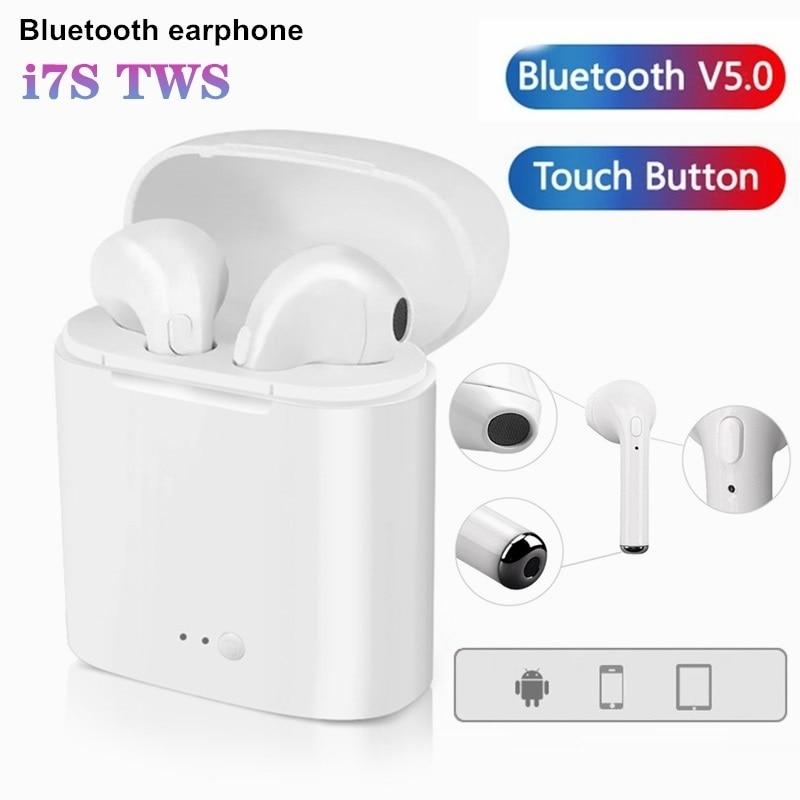 I7s Tws auriculares inalámbricos Bluetooth auriculares manos libres auriculares con caja de carga micrófono para todos los Smartphones