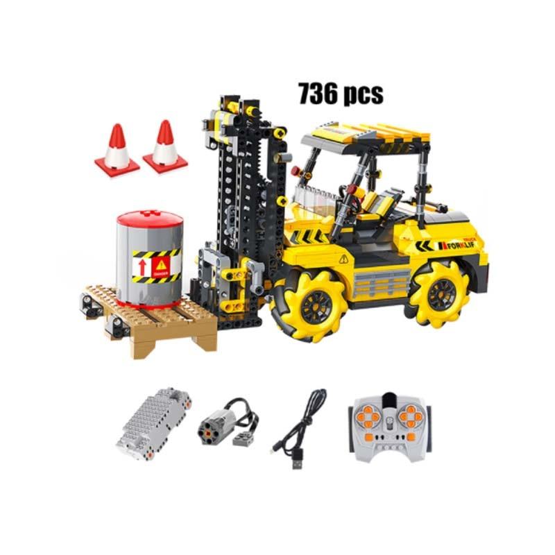 APP Remote Control Excavator Engineering Car Building Blocks City High-Tech RC Forklift Vehicle Crea