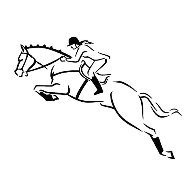Виниловые автомобильные наклейки «лошадиные гонки» 17 см x 12 см, Переводные картинки, аксессуары для мотоциклов, автомобильные окна, декорат...