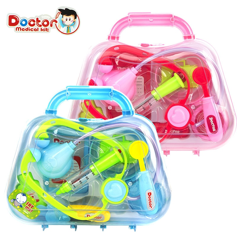 Kids Doctor Medical Case Set Toddler Child Education Role Pretend Play Toy Kit Gift