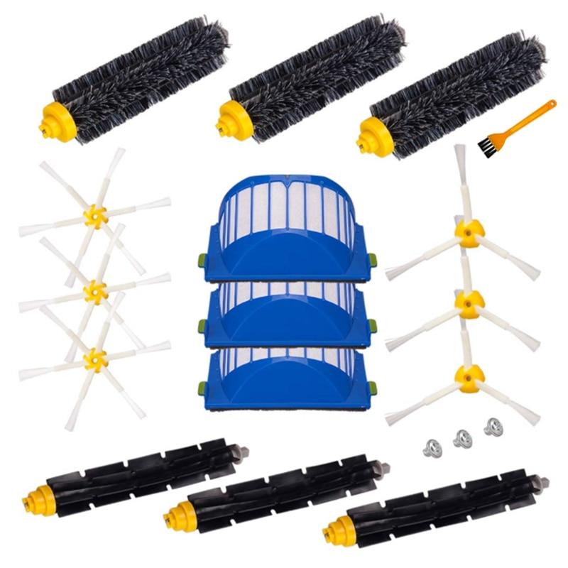 مجموعة أدوات التجميع لسلسلة IRobot Roomba 600 وسلسلة 500 غير قابلة للتطبيق على 645 655 ، مرشح الفرشاة الجانبية الرئيسية