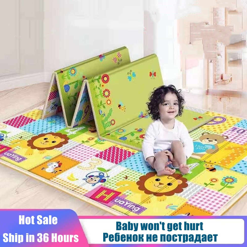 baby developing mat for newborn non toxic soft xpe foam baby climbing pad foldable activity gym for children playground kids rug Foldable Baby Play Mat Crawling Carpet XPE Puzzle Toys for Children Soft Floor Room Decor Activity Pad Gym Kids Rug Non-toxic
