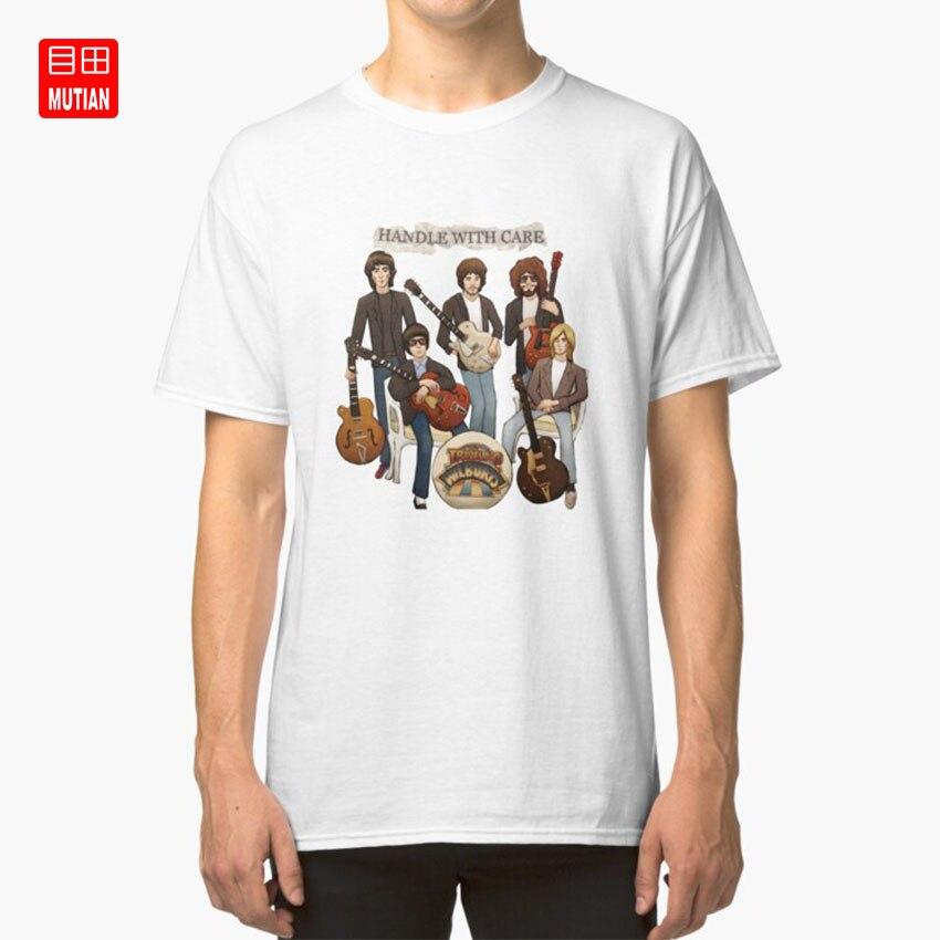 Wilbury giro camiseta viajando luz wilburys bob george eléctrico dylan orquesta buffalo springfield harrison el byrds