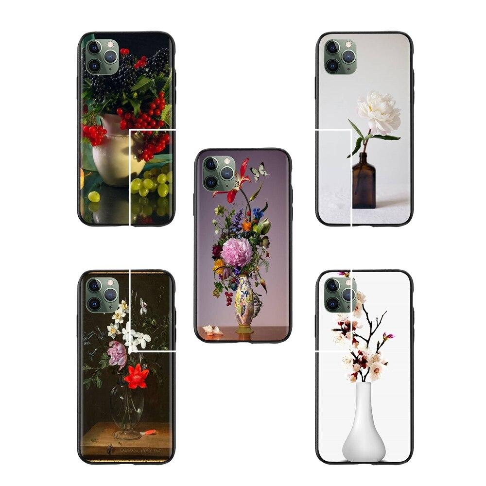 All Life Bowle flores primavera todavía jarrón frutas papel pintado teléfono caso iphone 6s plus accesorios teléfono Fundas
